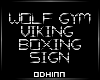 ᛟ Wolf Gym Neon Sign