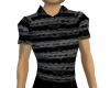black rope polo shirt