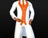white n orange tux