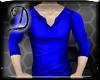 [D]Royal Blue Silk Polo