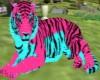 Pink Blue Tiger