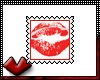 (V) Red Kiss Stamp