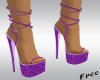 Pueple Glitz Heels
