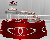 Red/Silver Cake Table
