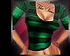 <3 Stripey Top Green