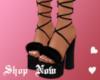 Black Fur Heels