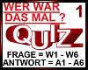WER WAR DAS MAL Quiz 1