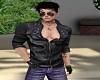 Black Leather Jacket -M-