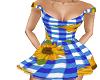 Gingham Sunflower Dress