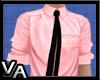 VA Pink Shirt Black Tie