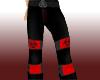 Red Toxic Raver Pants