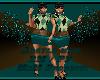 Teal Argyle Mini BM - PF