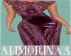 *A*Purple Satin/Lac Gown
