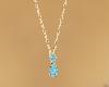 Aquamarine Gold Necklace