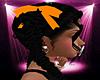 -S- Orange Hair Ribbons