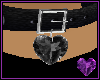 Black Gem Heart Collar