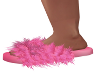 Alma-Fluffy Pink Slipper