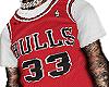 Bulls 33 White Tee
