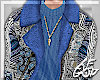 "Ⱥ"" Blue Suede Jacket"