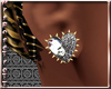 (RT)DIAM&GOLD HEART EARR