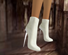 Short Suede Boots White