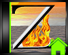 ! Animated Fire Letter Z