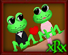 Valentine Frog Couple