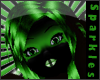 *S Neon Green Hair
