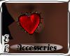 Heart red black Earrinng