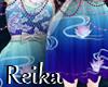 R Blue lace dress