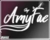 f Amy shop sign
