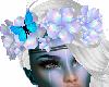 Hair Flowers w Butterfly