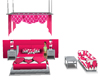 Pink Hearts Bedroom Set