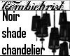 Noir shade chandelier
