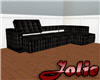 JF Black Leather Sofa