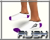 {DR} Socks White Purple
