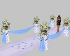 BLue/White Wedding Aisle