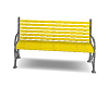 Yellow Park Bench