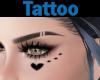 Tattoo Face Heart Dots