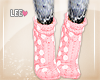 ! Pink Dot Socks