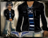 Lthr Skull jacket Blue