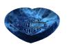 Blue Harley Heart