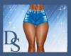 Blue PVC Shorts