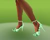 cool l green heel shoes