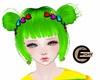 (E) Hair Clip Rainbow