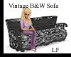 LF Vintage B&W Sofa