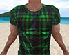Green Wet Shirt Plaid M