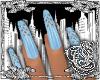 {E}Ice Blue Nails