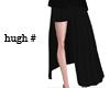 [H] long pleats_black