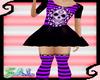 Sugar Skull Dress/Purple